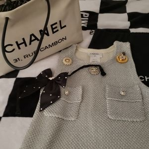Chanel dress with emblems rare